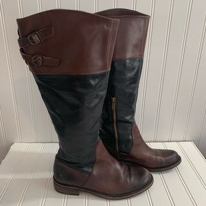 VINCE CAMUTO Keaton 6.5 B Leather Riding Boots